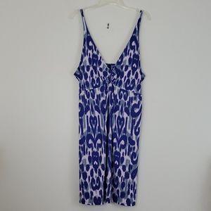 Mix It Blue & Gray Spaghetti Strap Dress XL